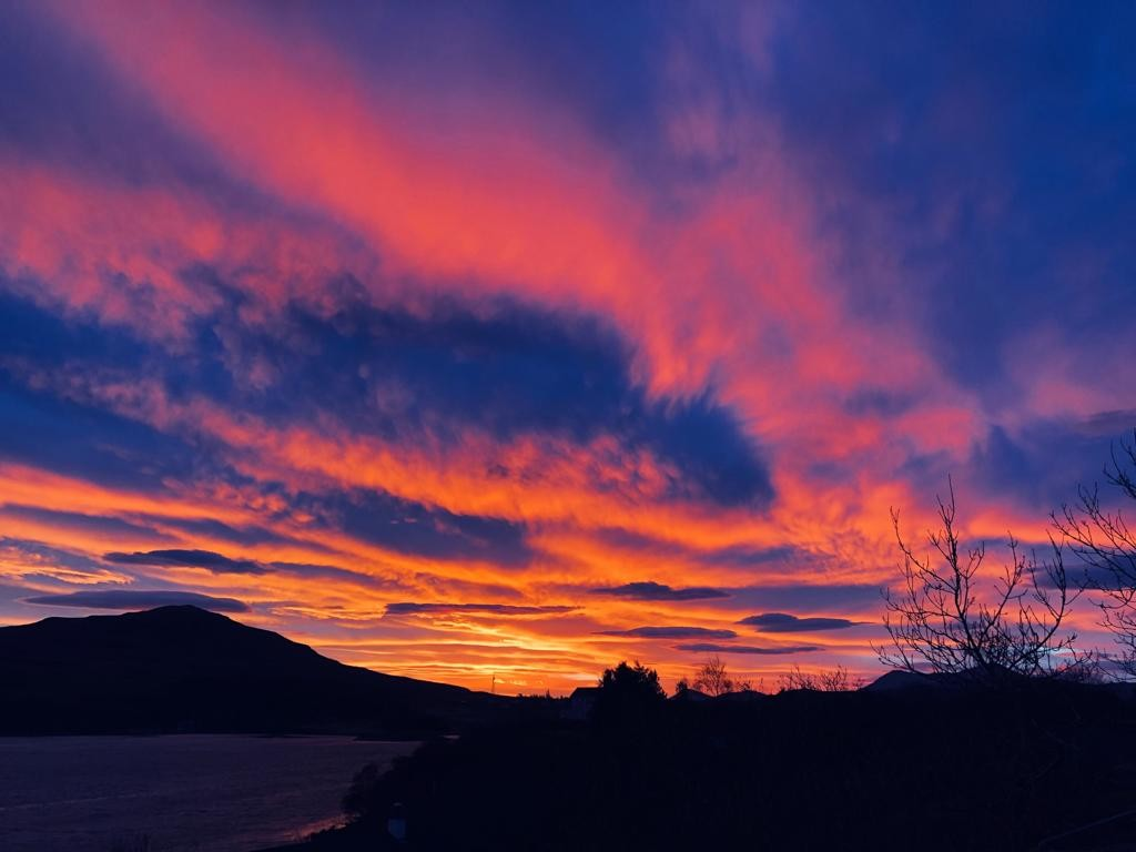 Sunrise over Portree, Isle of Skye 13 December 2018.