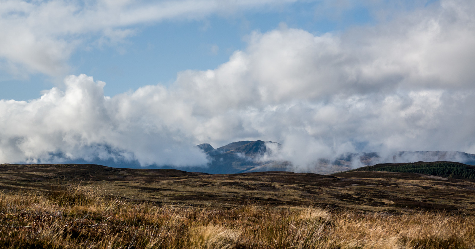 Clouds over Glen Lyon and the Lawers Group