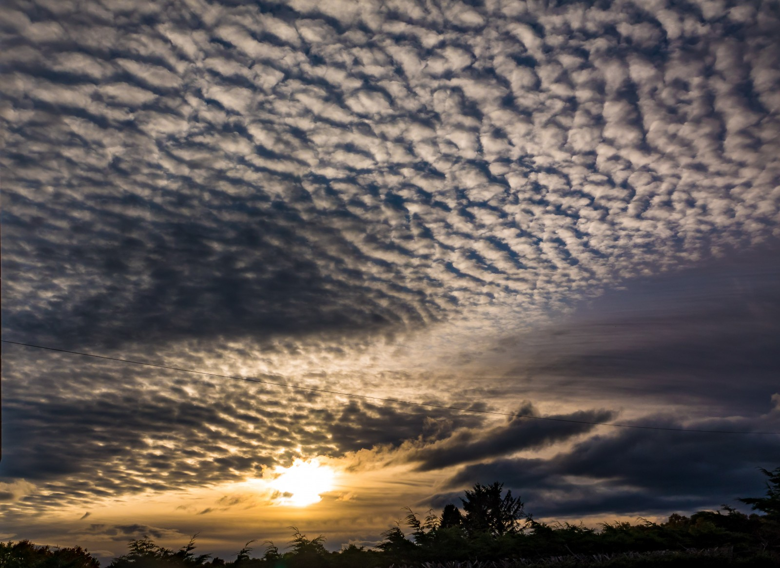 A fine mackerel sky earlier this month